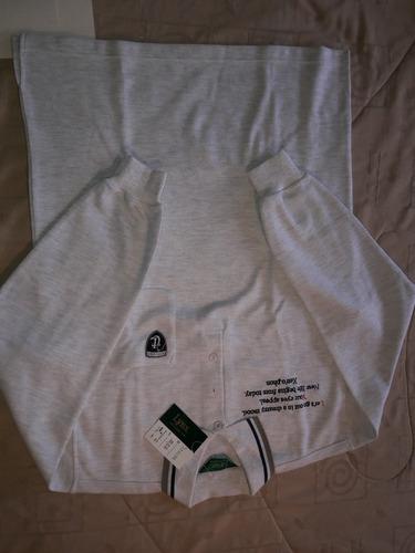 golf camiseta tipo polo marca linx manga larga talla l