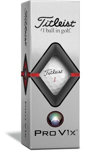 golf center pelotas titleist pro v1x  tubo x 3