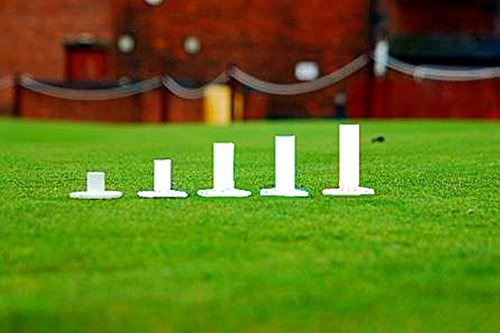 golf rubber tees driving range value pack de 5, diferentes