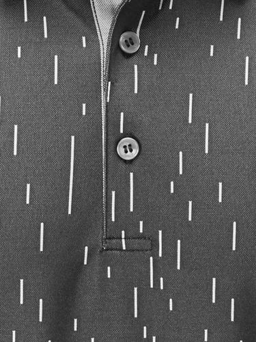 golfargentino comba ping linear jacquard polo asphalt