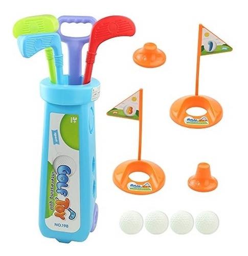 golfe infantil golf completo 3 tacos bolinhas e carrinho