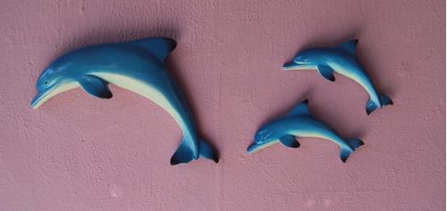 golfinhos de parede  (03 peças).
