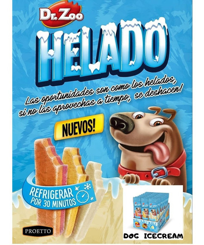 golosinas helado dr.zoo banana split 50gr veranox10 unidades