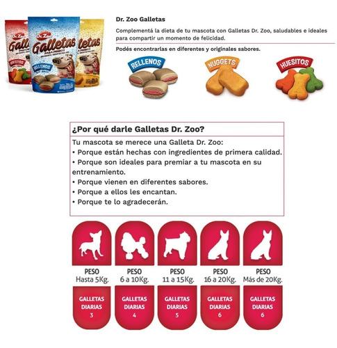 golosinas perros bocaditos dr.zoo galletas huesitos 250gr