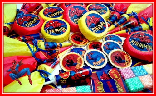 golosinas personalizadas/candy bar hombre araña - spiderman