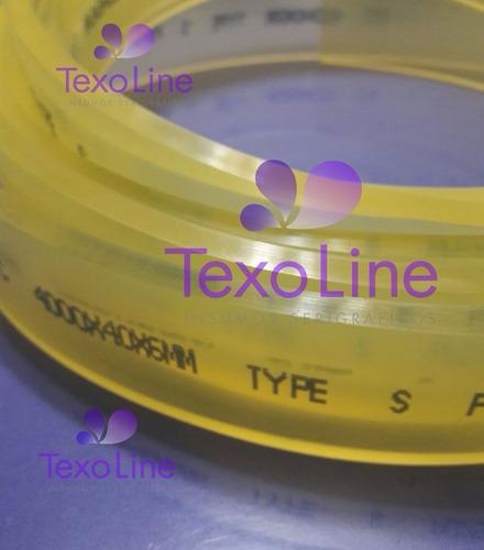 goma ambar de poliuretano 40x6 sin filo x 1 metro. texo line