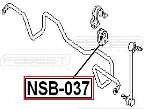 goma barra estabilizadora delantera murano z50 febest