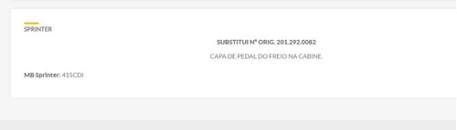 goma cubre pedal freno mb actros/axor/atego/sprinter 415cdi
