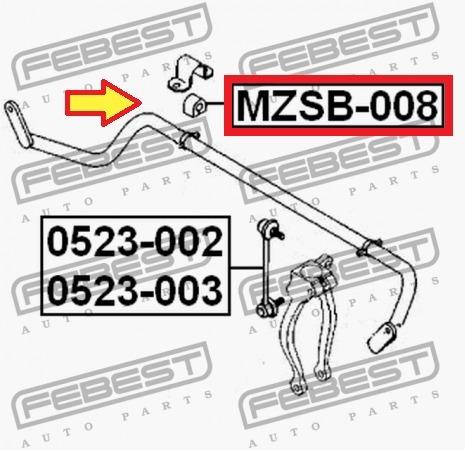 goma de buje de barra estabilizadora mazda 6 fusion ( set )