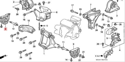 goma de montaje de trans honda crv 1997/2001 (50805-sr3-981)