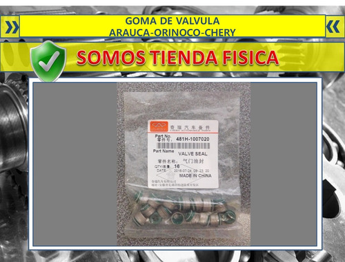 goma de valvula arauca orinoco chery