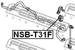 goma delantera barra estabilizadora renault  koleos  set