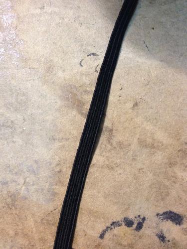 goma elastica n°8 acanalada color negra por rollo
