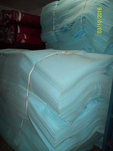 goma espuma azul de 1x2 mts de 1/2 pulgada