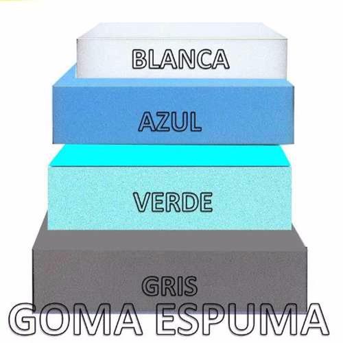 goma espuma lamina 200x100cm azul verde 1/2  pulgada envío