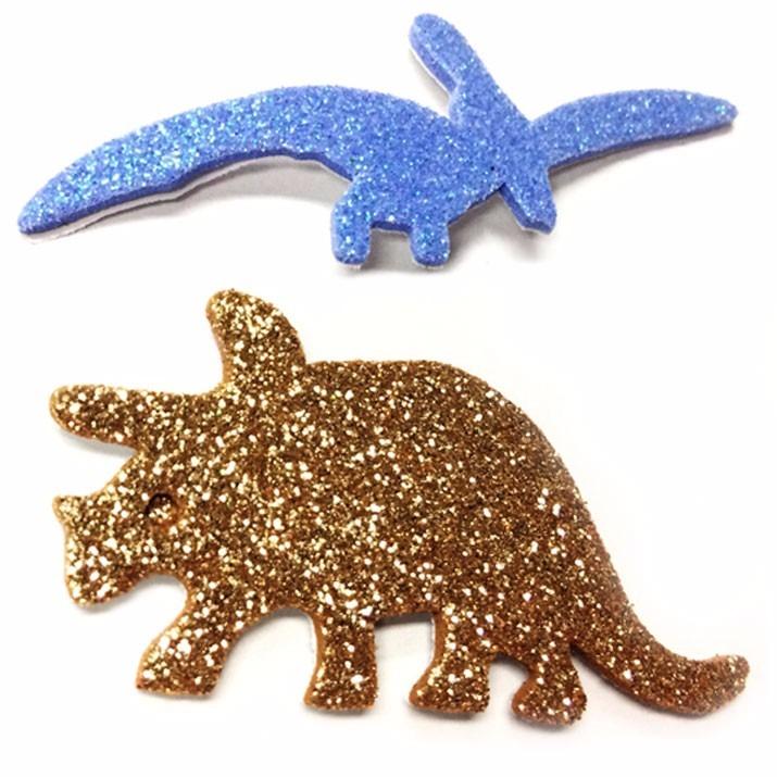 9d63ad33347 Goma Eva Adix Dinosaurios Glitter Adhesivos -   1.990 en Mercado Libre