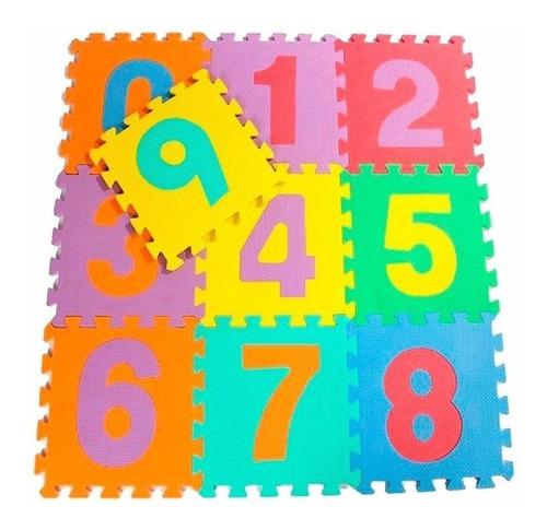 goma eva alfombra numeros niños 50 cuadros 30x30 / n ofertas
