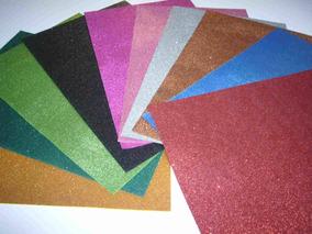 Goma Eva Brillantina Pack 50 Hojas Colores Surtidos 40x60 Cm