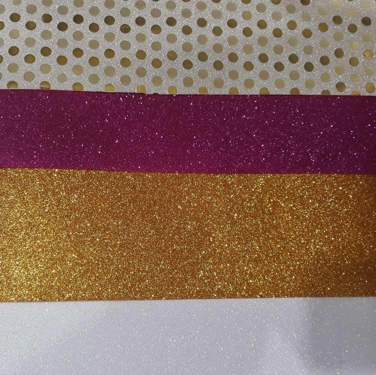 5e5036c0755 Goma Eva De Varios Colores Con Brillo Glitter X Unidad 40x60 -   78 ...