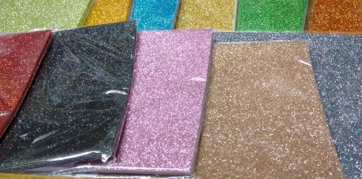 0db51ed75 Goma Eva Glitter Autoadhesiva A4 X 5 Unidades - $ 162,00 en Mercado ...
