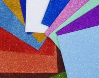 goma eva glitter - con brillo brillito grande x 50 unid