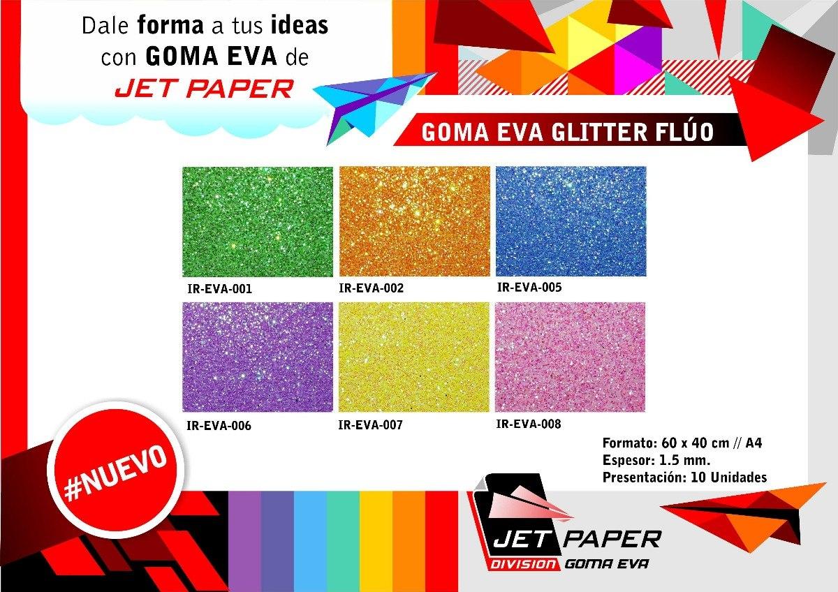dde8b9206 goma eva glitter fluo 60x40 cm x 10 unidades importador. Cargando zoom.