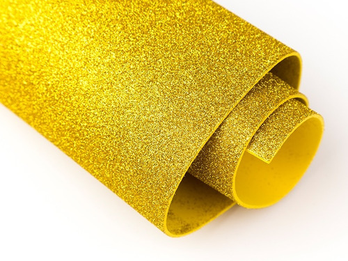 goma eva glitter - gomaeva con brillo gliter brillito grande