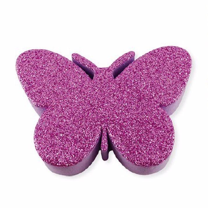 Goma Eva Mariposas De Goma Eva Adhesiva Con Glitter Unidad - $ 1.200 ...