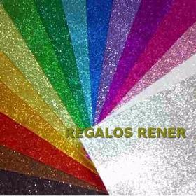 Goma Eva Super Glitter Pack X 5  Elige Los Colores