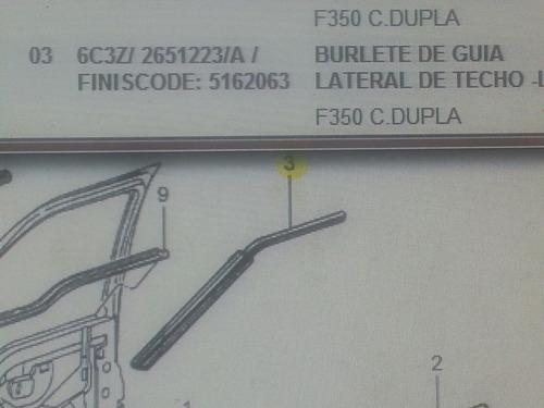 goma lateral izquierda f-350