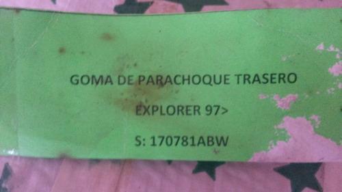 goma superior de parachoque de explorer 97