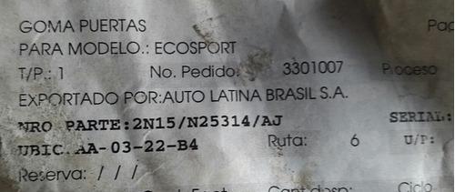 goma superior puertas delanteras ecosport 04/12
