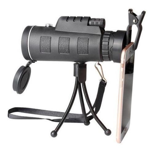 goma telescopio monocular de viaje w/teléfono cámara adaptad