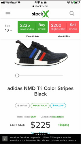 gomas adidas nmd tricolor originales