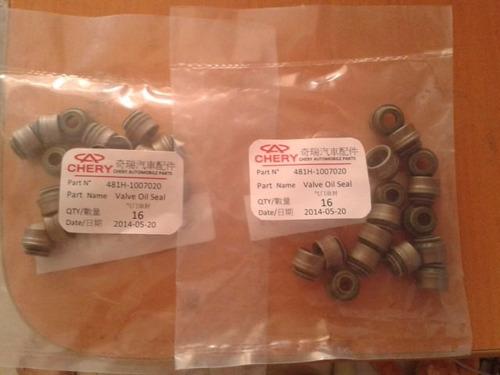 gomas de valvulas chery orinoco a520 tiggo 2.0 originales