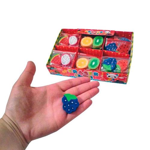 gomitas de borrar frutas x60 gomas kawaii frutitas souvenir
