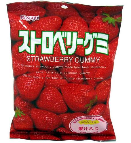 gomitas de sabor fresa kasugai strarberry japonesas