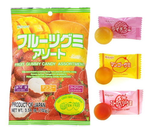gomitas de sabores kasugai fruits assortment japonesas