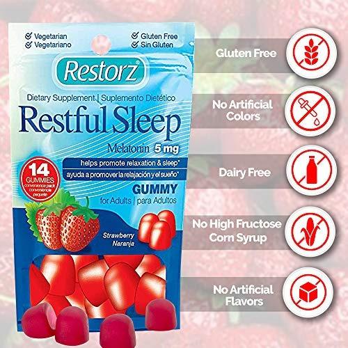 gomitas sueño reparador 5 mg melatonina por restorz | gomi