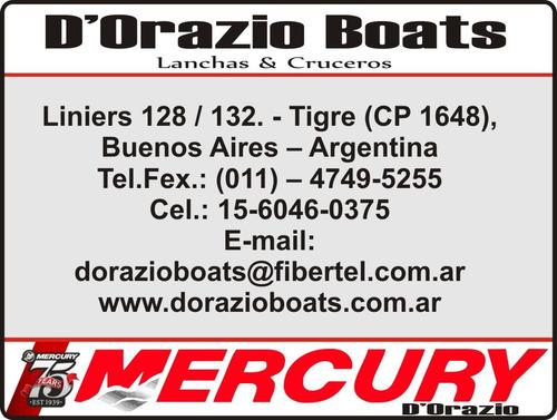 gomon desarmable mercury 270 sport c/motor 5 hp 4 tiempos