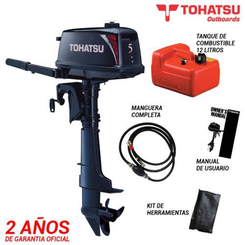gomon desarmable powertec 3 mts con motor tohatsu 5 hp 2t