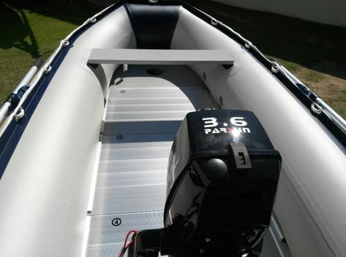 gomon hifei 320 piso aluminio + motor parsun 3,6 hp oferta !