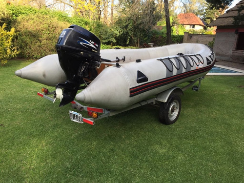 gomon inflable,4.60 mts.. motor parsun 25 hp. 4 t. trailer