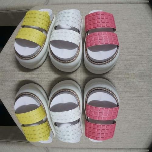 gomones sandalias zuecos plataforma 2 fajas goma liviana