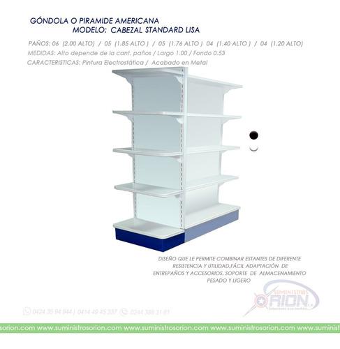 góndola,estantes exhibidor, pirámide americana fabricantes