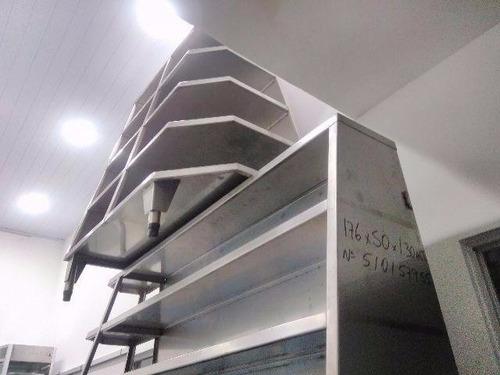 gondolas inox - prateleira inox - estante industrial