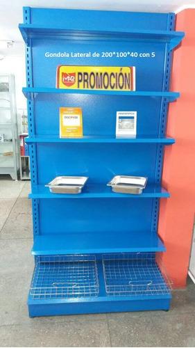 góndolas regulables en promoción varios modelos y colores