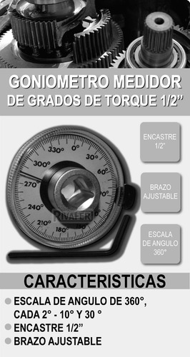 goneometro eurotech medidor de grados de torque