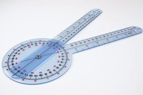 goniómetro -12 pulgadas de 360 grados de ángulo de plástico