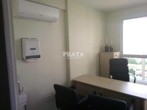 gonzaga sala comercial com 42 m² estacionamento manobrista - a397971